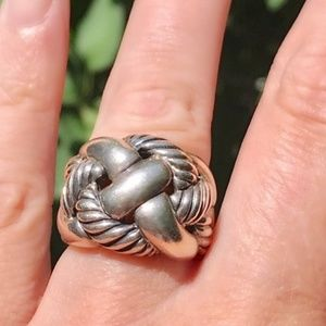 David Yurman Wide Woven Cable Ring, size 7